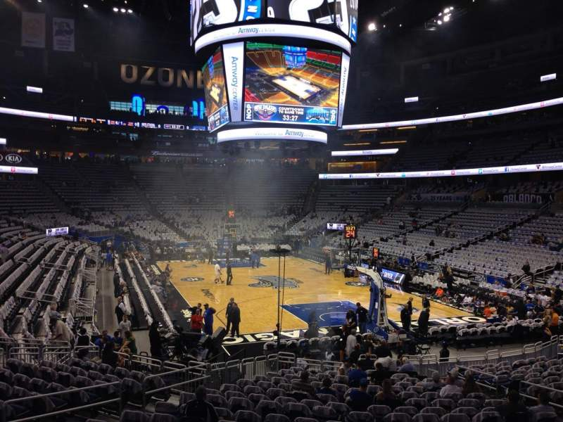 Seating view for Amway Center Section 111 Row 18 Seat 12
