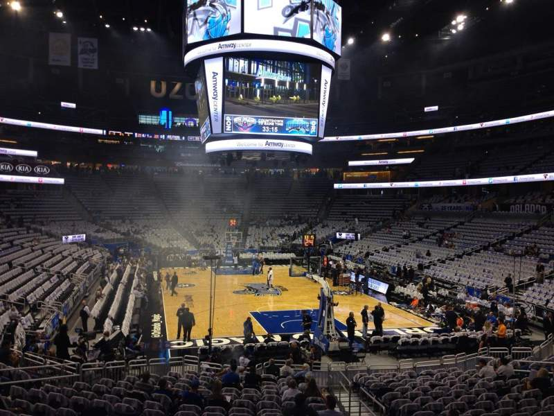 Seating view for Amway Center Section 111 Row 18 Seat 4