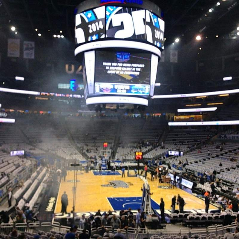 Seating view for Amway Center Section 110 Row 18 Seat 23