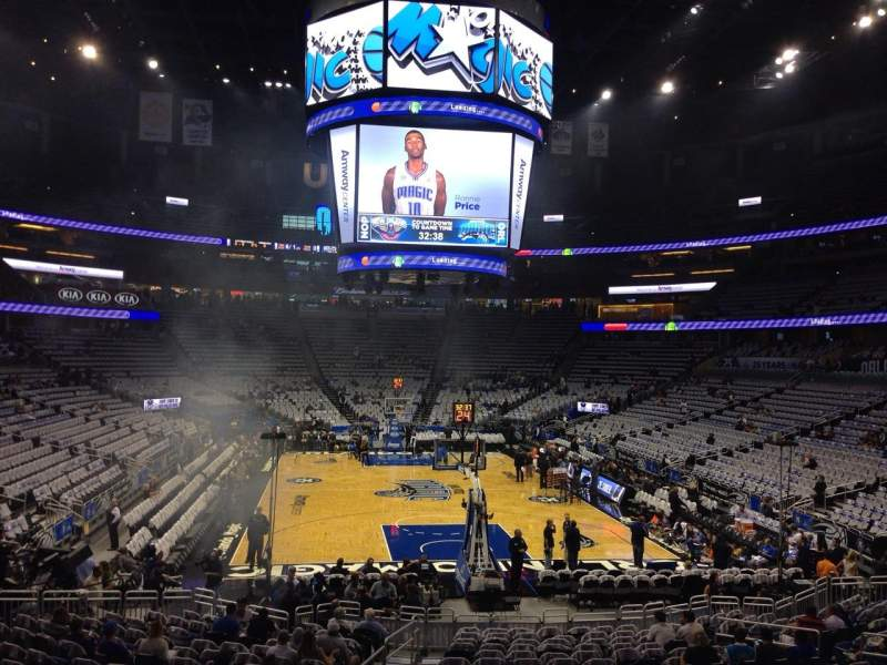 Seating view for Amway Center Section 110 Row 18 Seat 21