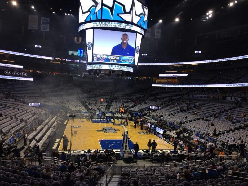 Seating view for Amway Center Section 110 Row 19 Seat 23