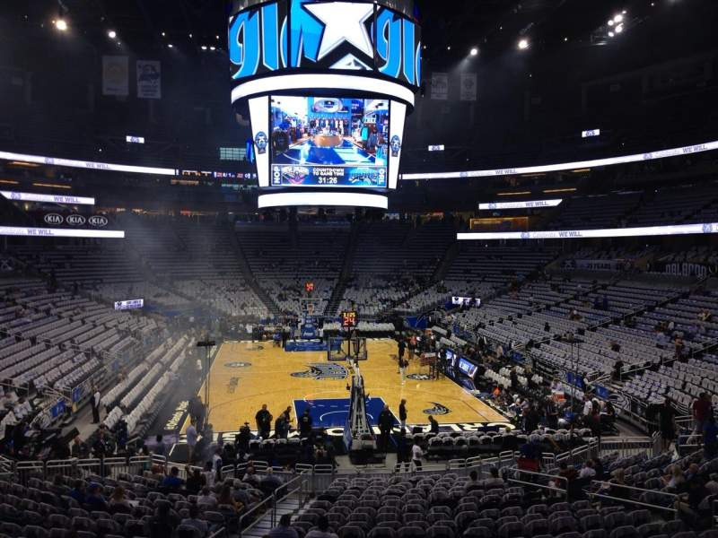 Seating view for Amway Center Section 110 Row 21 Seat 21