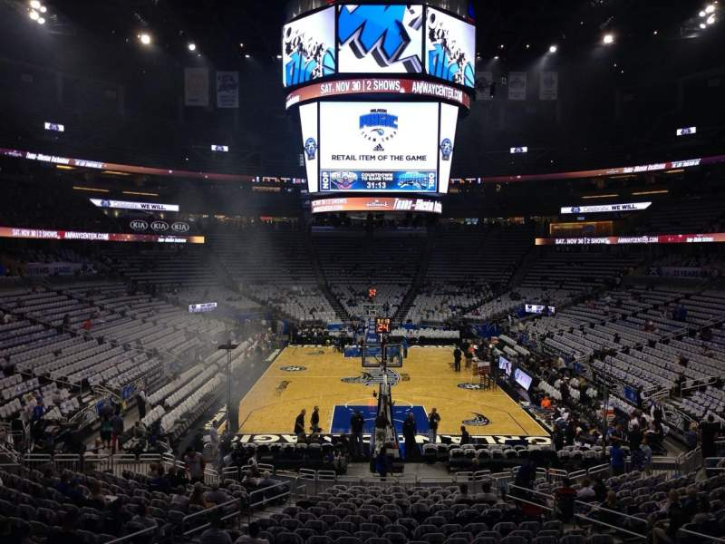 Seating view for Amway Center Section 110 Row 21 Seat 15