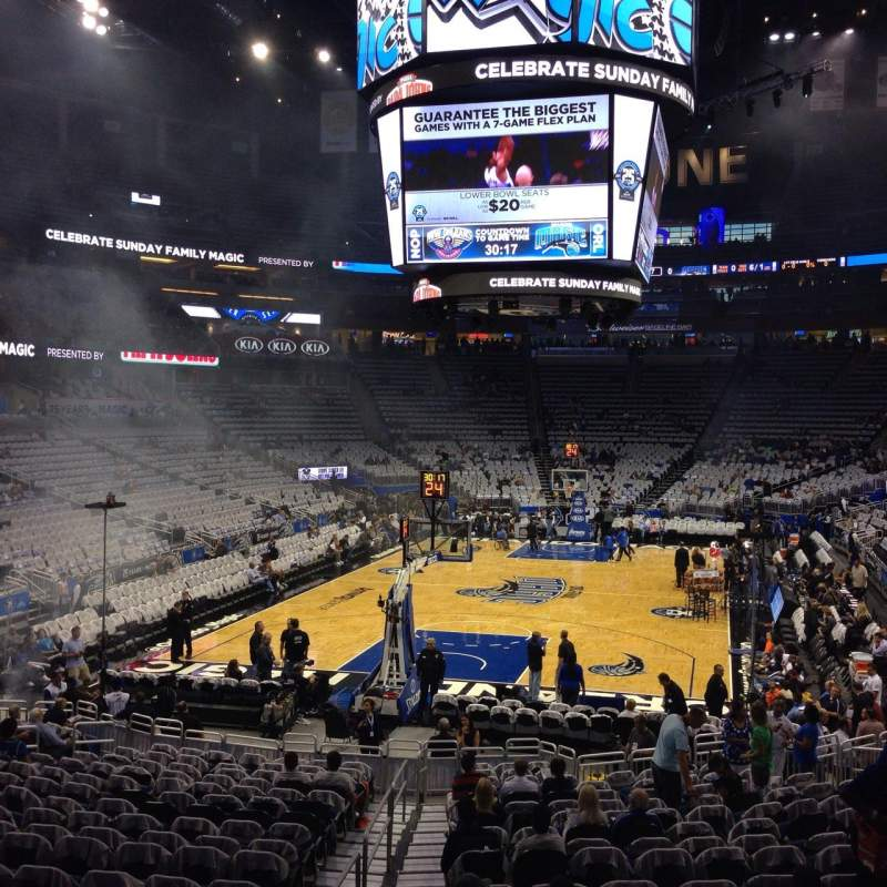 Seating view for Amway Center Section 109 Row 18 Seat 21