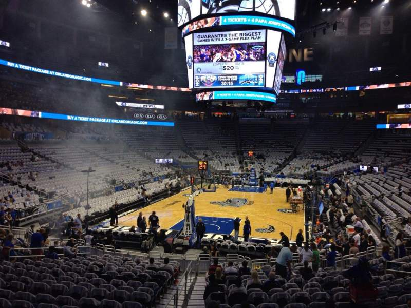 Seating view for Amway Center Section 109 Row 18 Seat 15