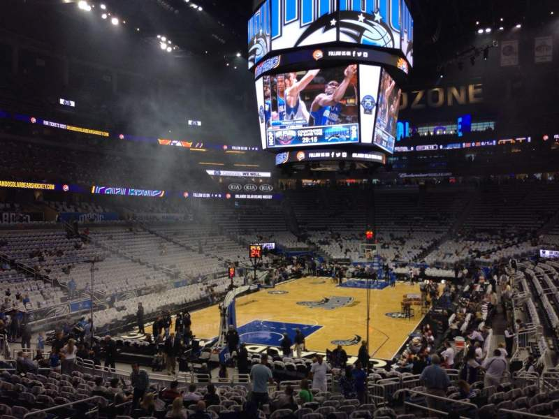 Seating view for Amway Center Section 109 Row 18 Seat 12