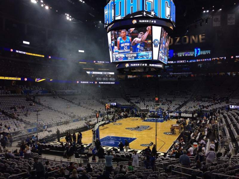 Seating view for Amway Center Section 109 Row 15 Seat 18