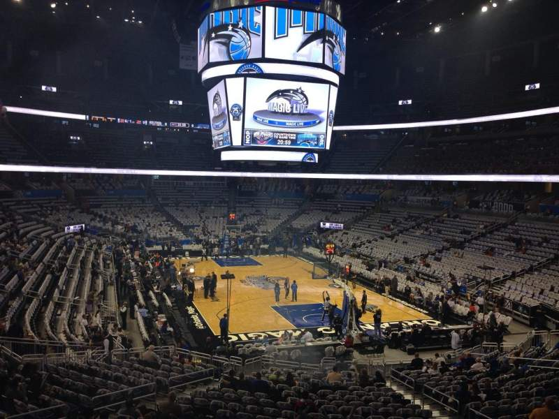 Seating view for Amway Center Section 202 Row 31 Seat 14