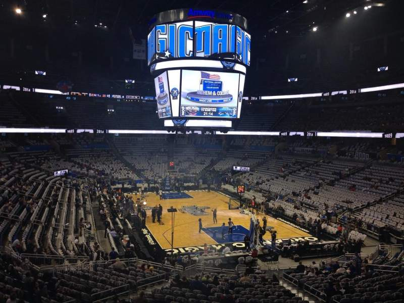 Seating view for Amway Center Section 202 Row 26 Seat 12