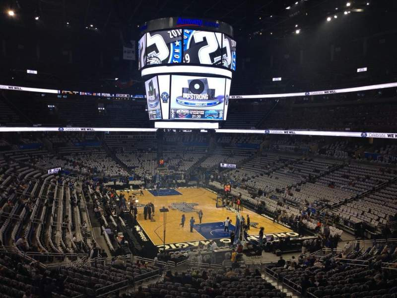 Seating view for Amway Center Section 202 Row 28 Seat 13