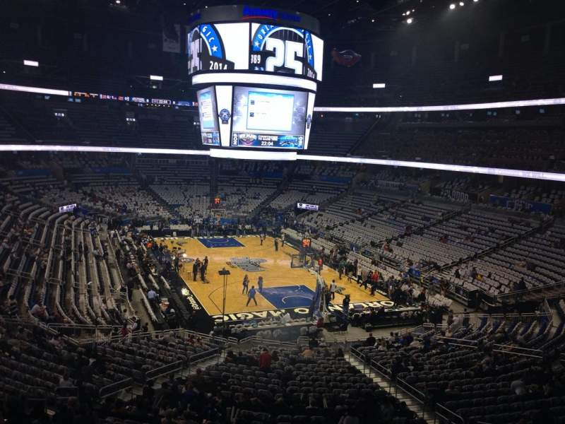 Seating view for Amway Center Section 202 Row 29 Seat 13
