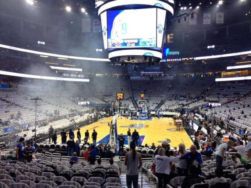 Seating view for Amway Center Section 110 Row 13 Seat 1