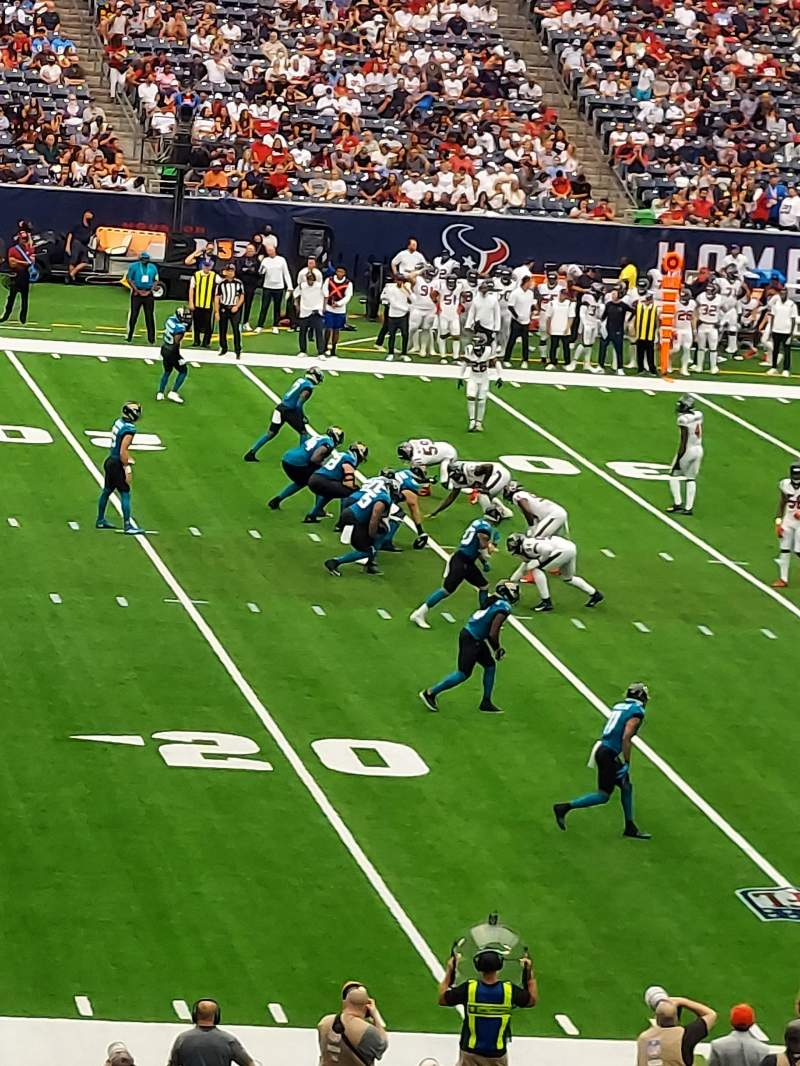 Seating view for NRG Stadium Section 129 Row JJ Seat 21