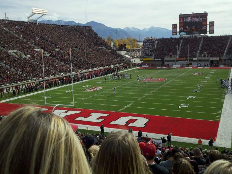 Seating view for Rice-Eccles Stadium Section N22 Row 34 Seat 27