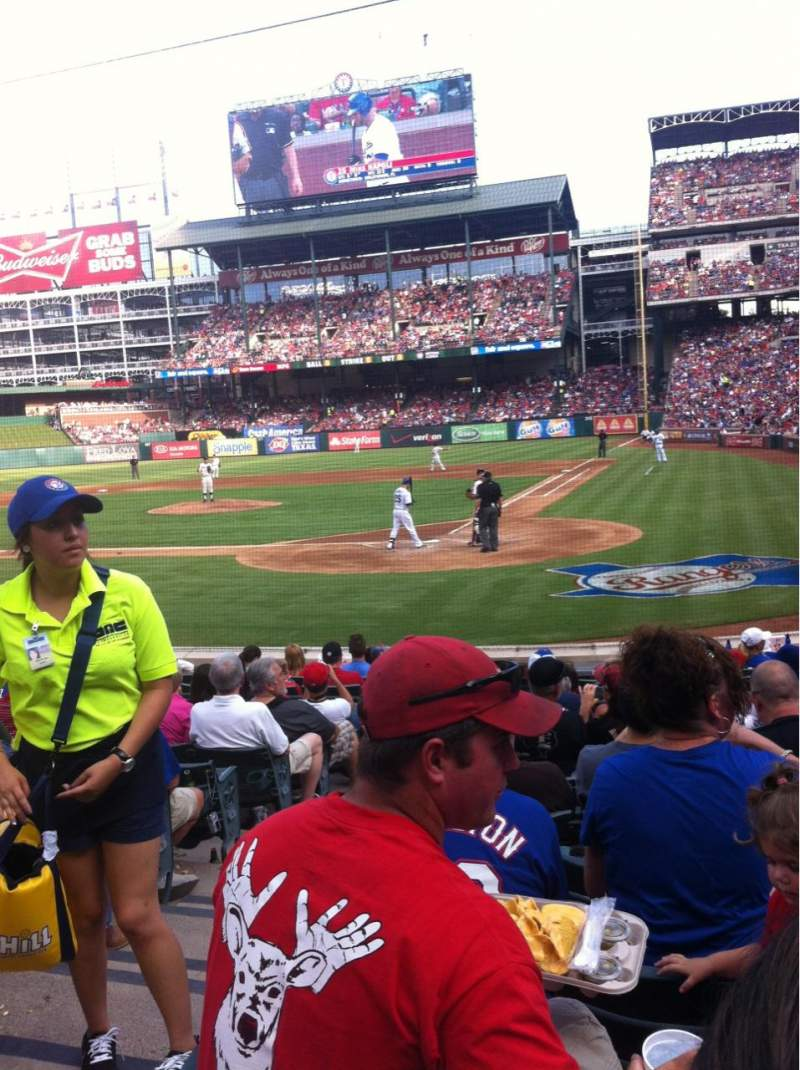 Seating view for Globe Life Park in Arlington Section 23 Row 10 Seat 2