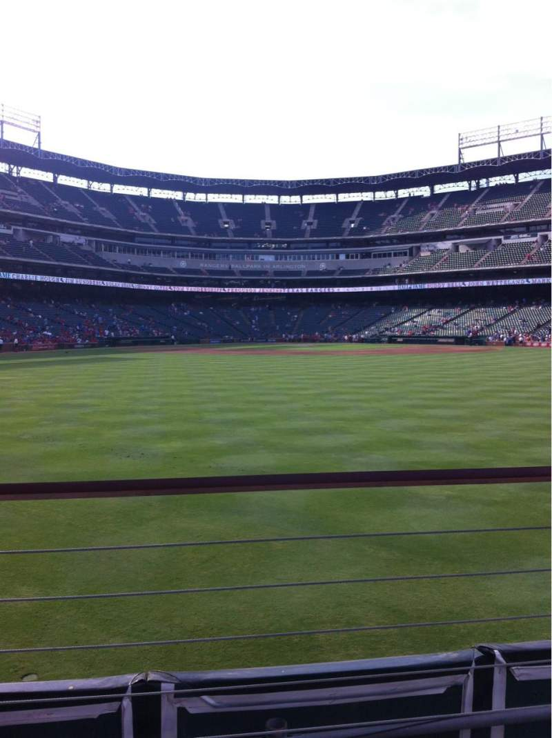 Seating view for Globe Life Park in Arlington Section 51 Row 2 Seat 7