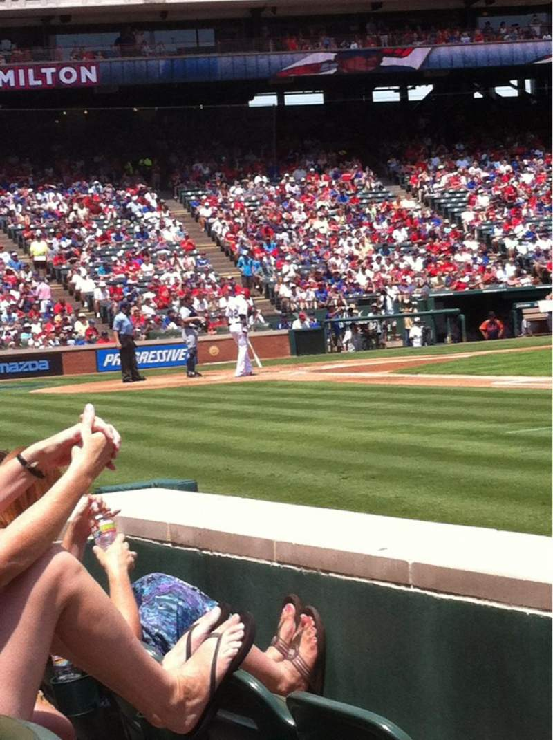 Seating view for Globe Life Park in Arlington Section 35 Row 1 Seat 3