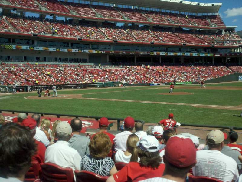 Seating view for Great American Ball Park Section 131 Row M Seat 11