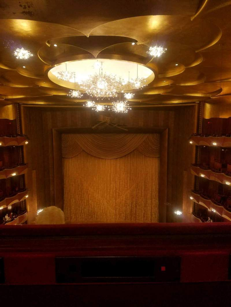 Seating view for Metropolitan Opera House - Lincoln Center Section Family Circle Row A Seat 110