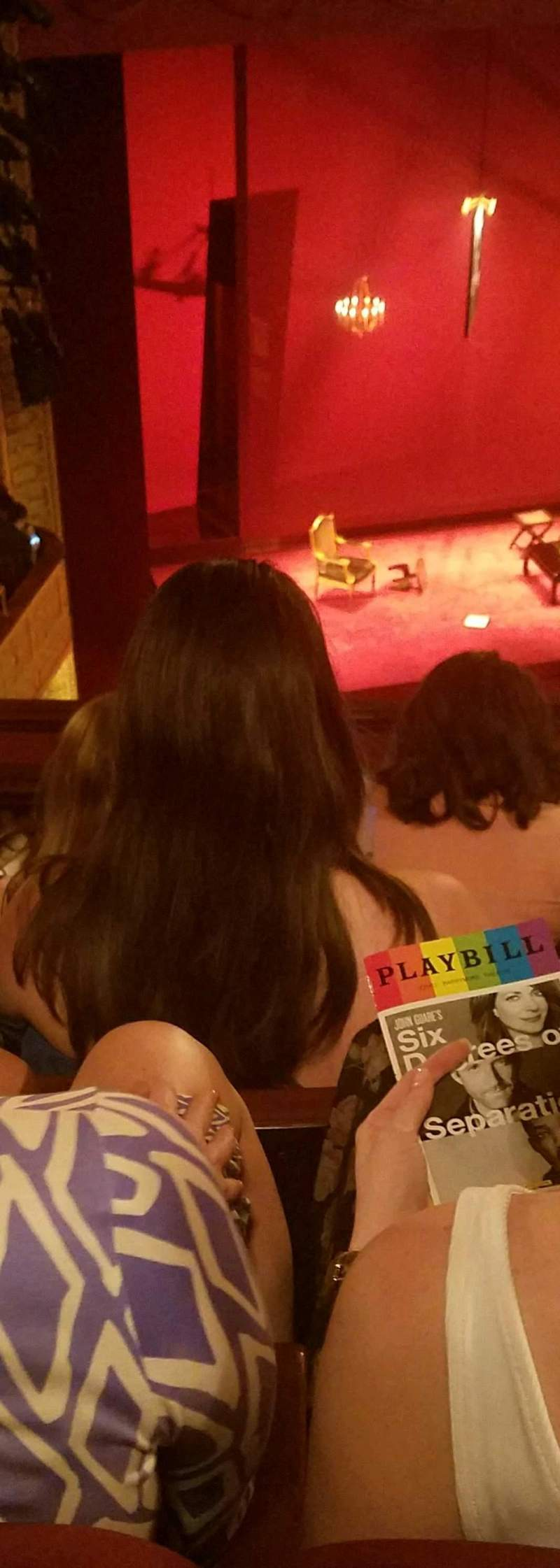Seating view for Ethel Barrymore Theatre Section Rear Mezzanine L Row E Seat 15
