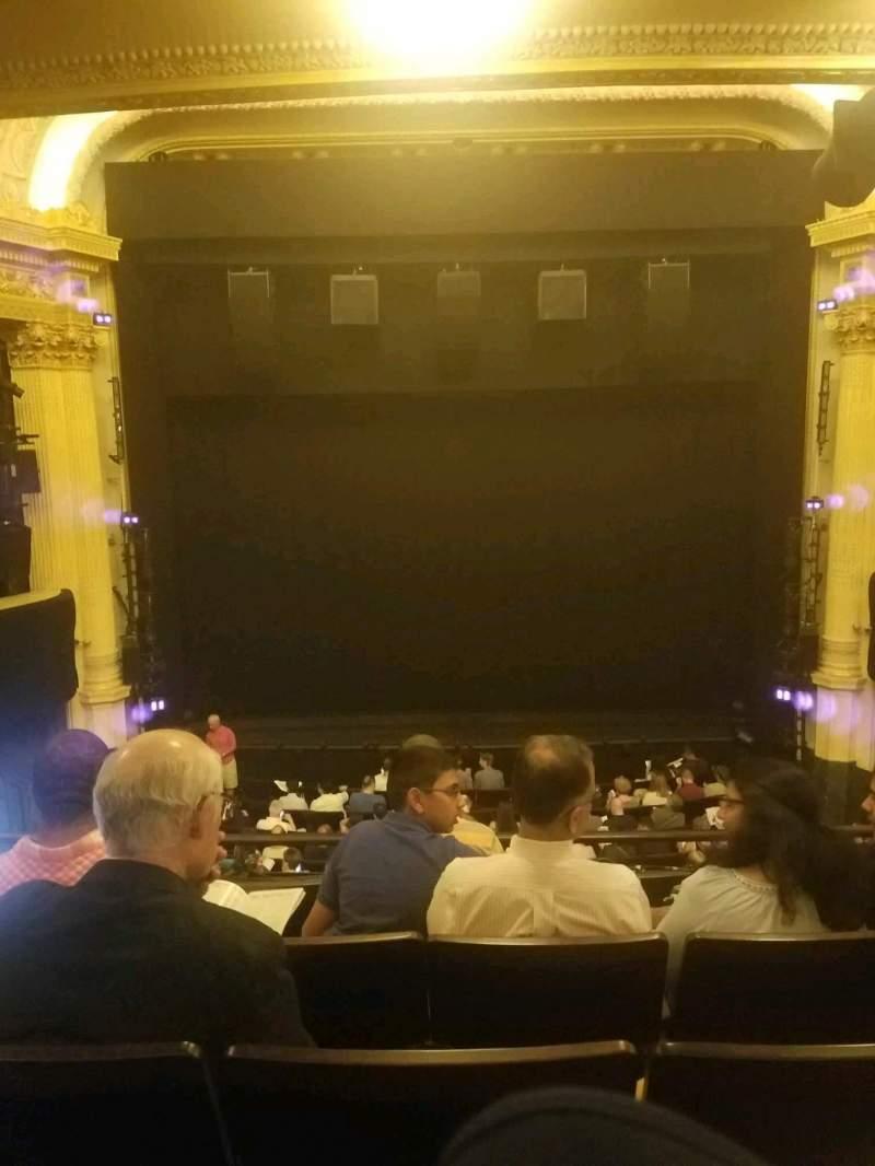 Hudson Theatre, section: dress circle, row: e, seat: 108