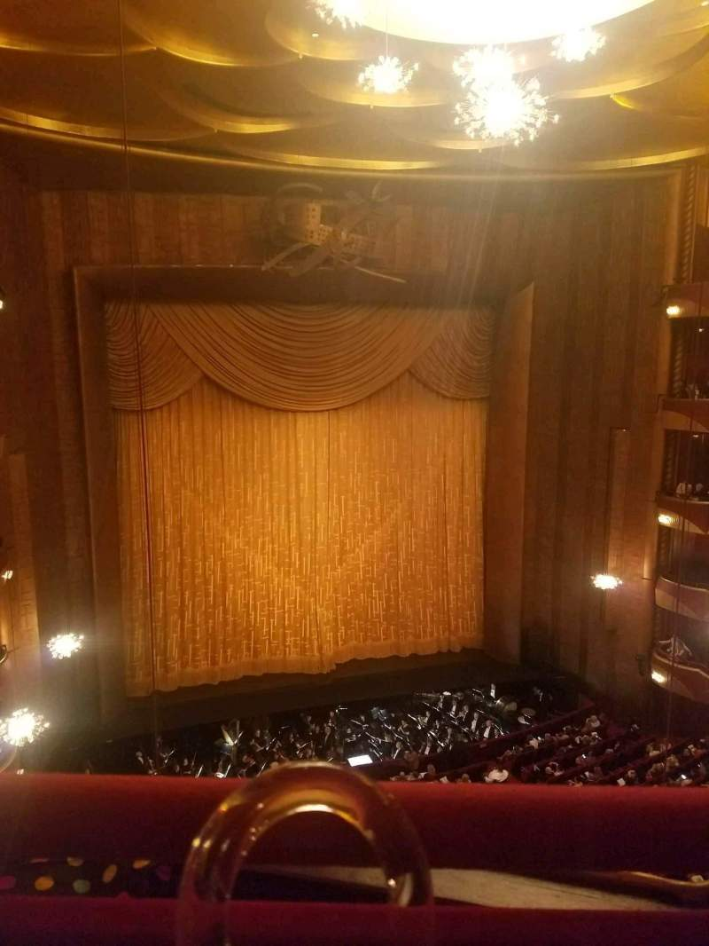 Seating view for Metropolitan Opera House - Lincoln Center Section Balcony Row A Seat 3