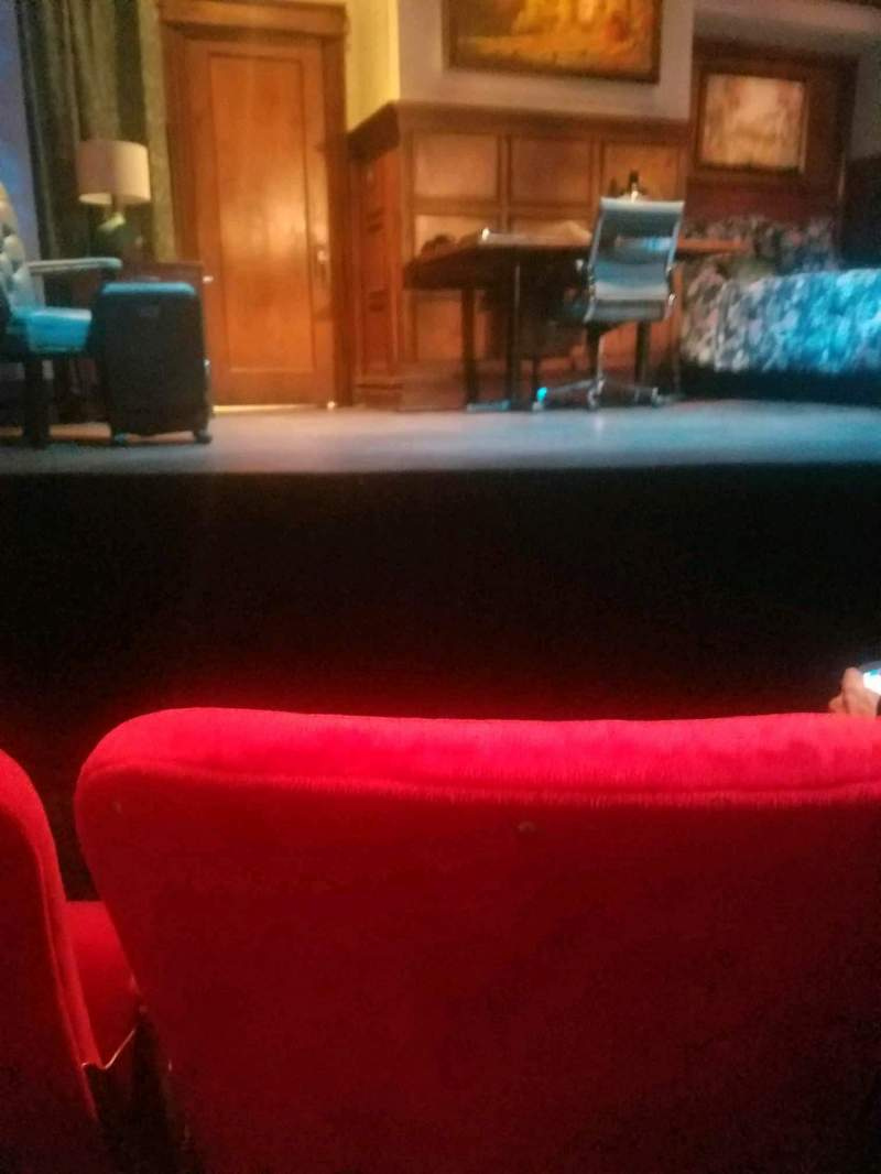 Seating view for Lucille Lortel Theatre Section orch Row b Seat 108