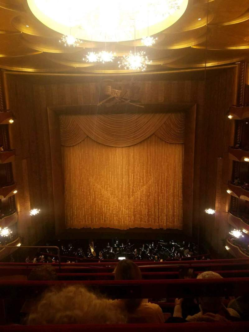 Seating view for Metropolitan Opera House - Lincoln Center Section Balcony Row D Seat 104