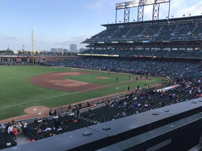Seating view for Oracle Park Section 228 Row A Seat 1