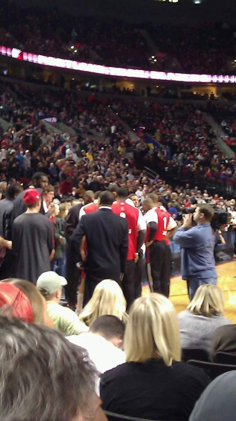 Seating view for Moda Center Section 118 Row FF Seat 3