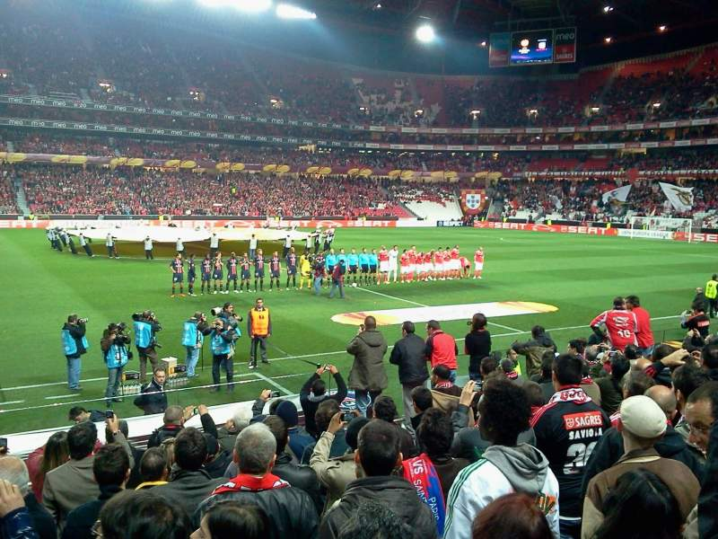 Seating view for Estadio da Luz Section 32 Row M Seat 10