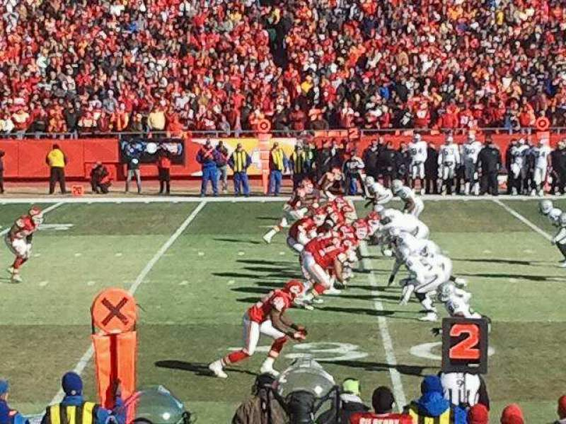 Seating view for Arrowhead Stadium