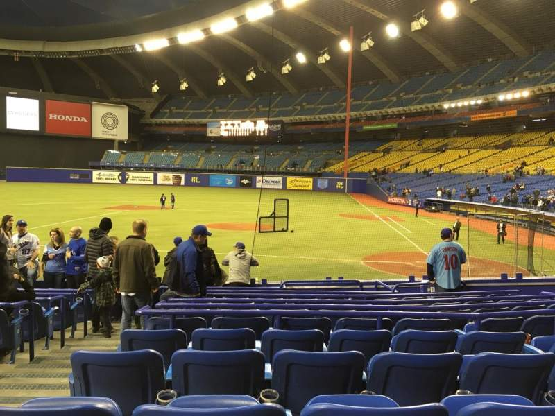 Seating view for Olympic Stadium, Montreal Section 106 Row QQ Seat 11