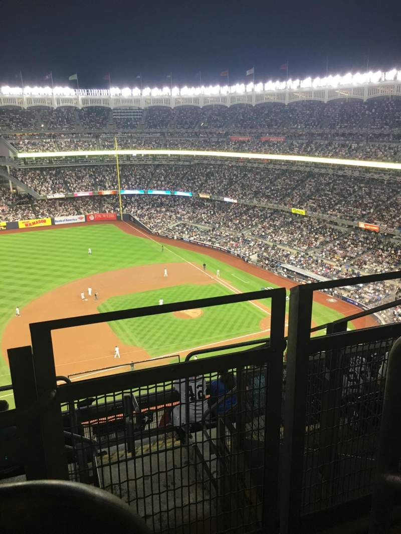 Seating view for Yankee Stadium Section 426 Row 11 Seat 1