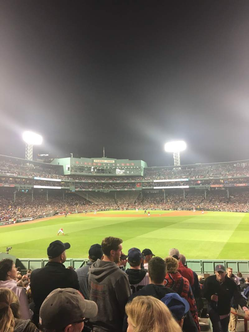 Seating view for Fenway Park Section Bleacher 41 Row 21 Seat 1