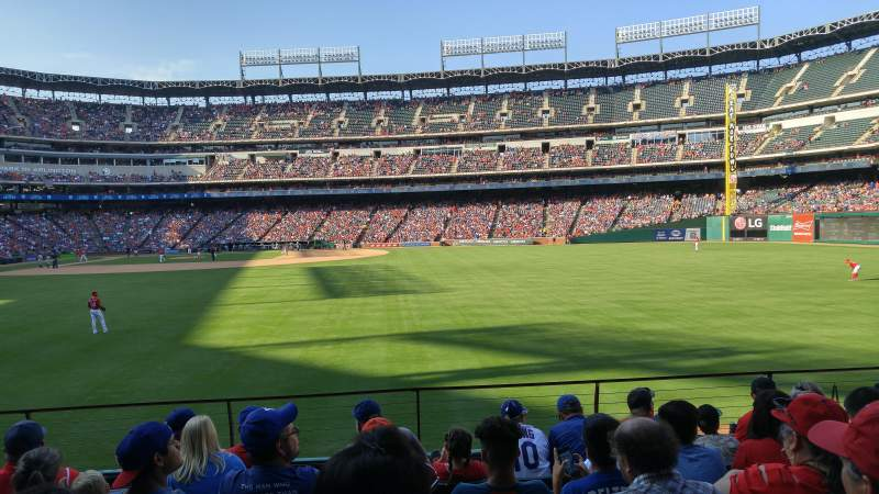Seating view for Globe Life Park in Arlington Section 47 Row 7 Seat 10