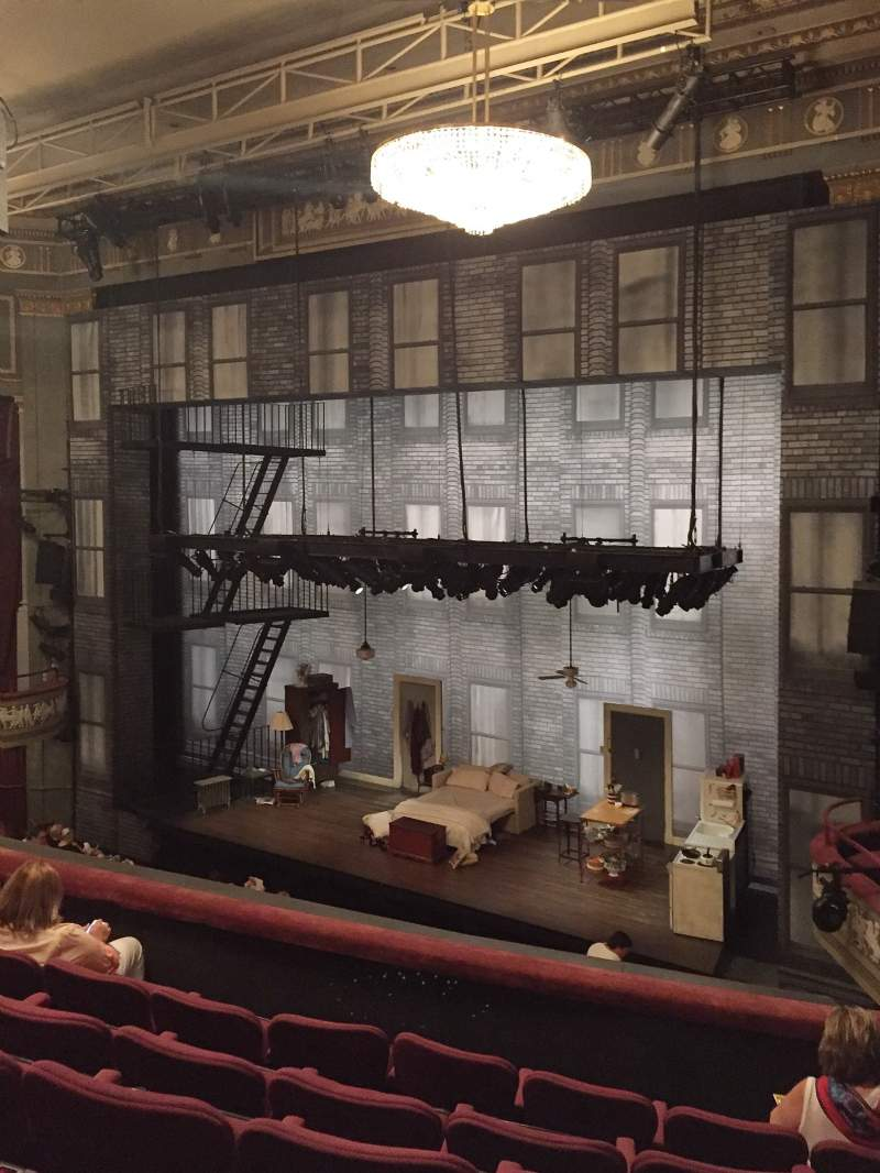 Seating view for Broadhurst Theatre Section Mezzanine R Row F Seat 20