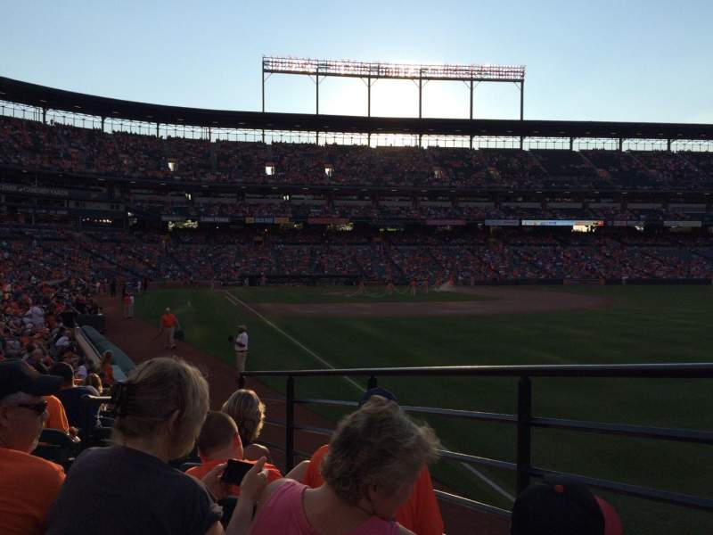 Seating view for Oriole Park At Camden Yards Section 6 Row 14 Seat 4