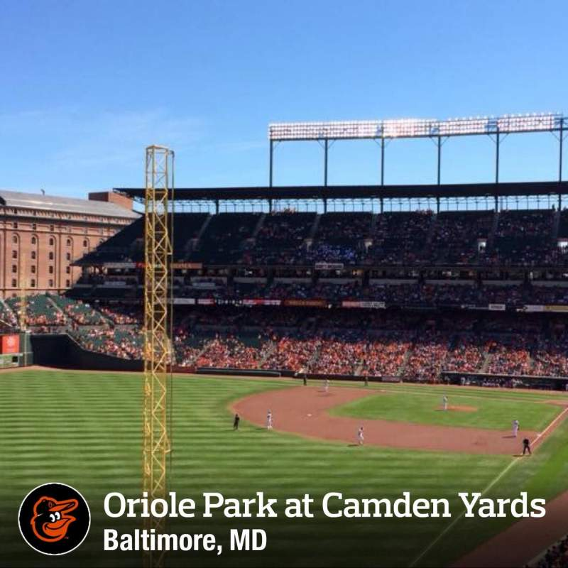 Seating view for Oriole Park at Camden Yards Section 274 Row A Seat 1