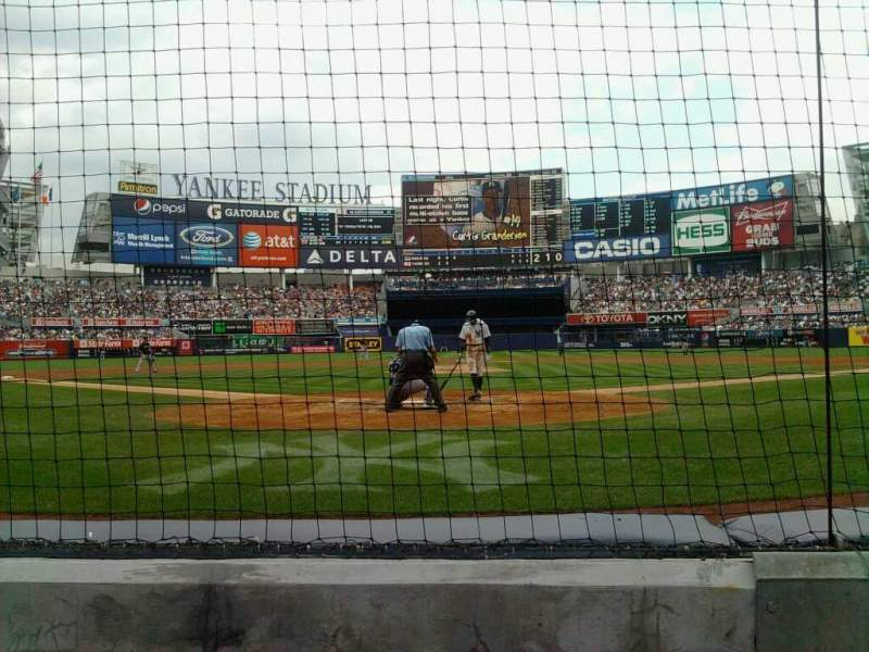 Seating view for Yankee Stadium Section 20 Row 2 Seat 3