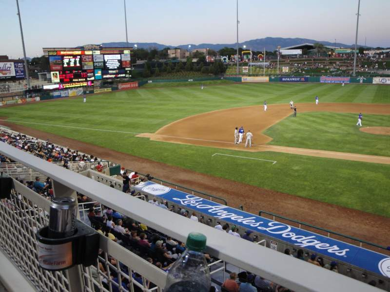 Seating view for Isotopes Park Section Club 311 Row A Seat 7