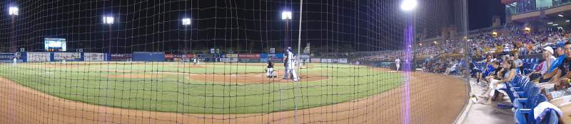 Seating view for Cashman Field Section A Row 2 Seat 5