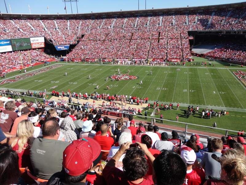 Seating view for Candlestick Park Section UR18 Row 1 Seat 10
