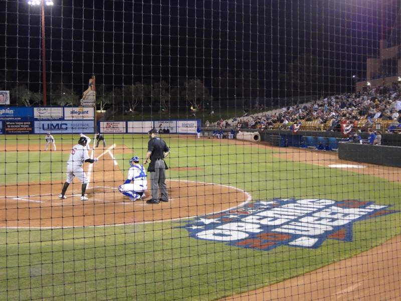 Seating view for Cashman Field Section Dug-A Row 3 Seat 9