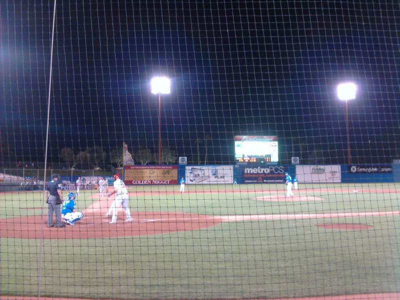 Seating view for Cashman Field Section Dug-D Row 3 Seat 4
