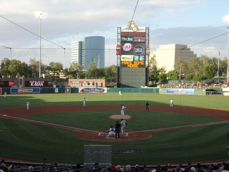 Seating view for Raley Field Section 112 Row 25 Seat 7