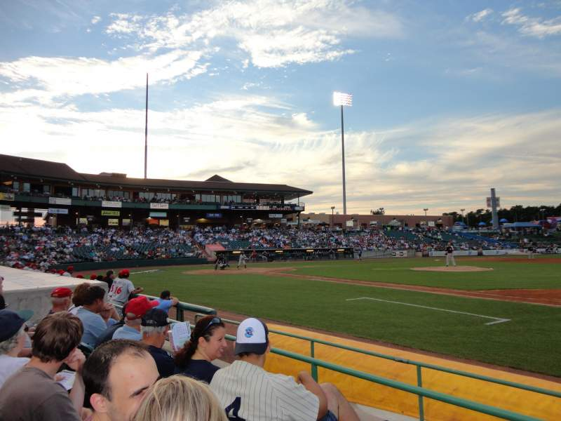 Seating view for FirstEnergy Park Section 103 Row 6 Seat 9