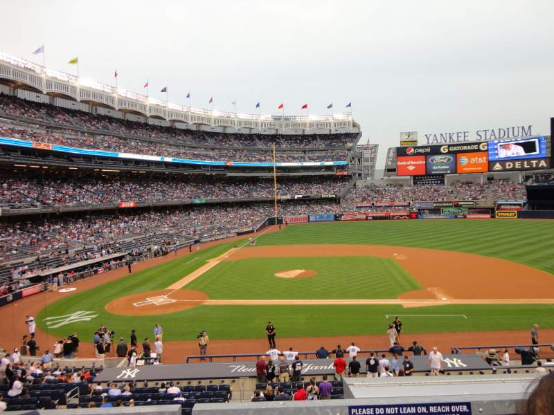 Seating view for Yankee Stadium Section 216 Row 2 Seat 14