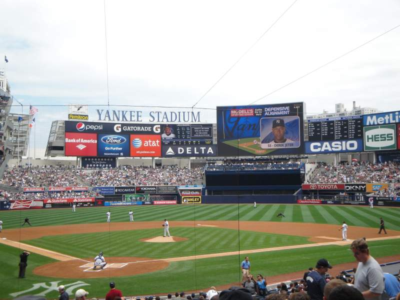 Seating view for Yankee Stadium Section 119 Row 26 Seat 8