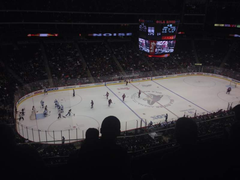Seating view for Gila River Arena Section 203 Row D Seat 7